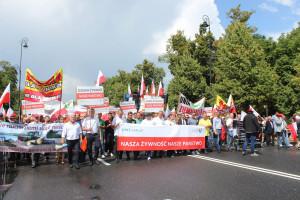 Rolnicy na ulicach Warszawy - zobacz jak wyglądał protest