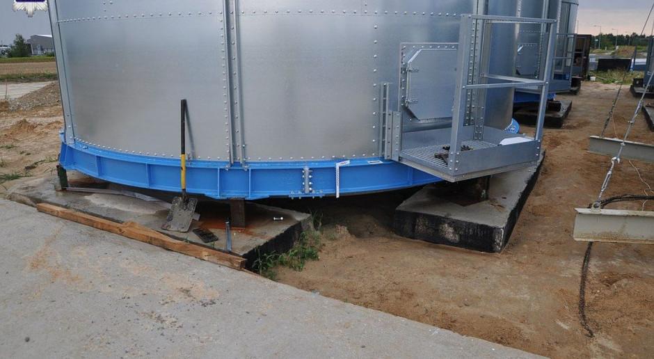 Wypadek przy montażu silosa