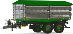 Nowa przyczepa T-617/5 o ład. 14 t, fot. Cynkomet
