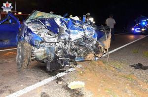 19-latek mia wiele szczęścia, bo wyszedł z wypadku bez większych obrażeń.