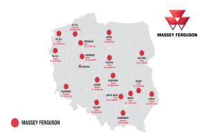 Aktualna mapa sieci dealerskiej Massey Fergusona, fot. AGCO