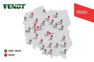 Aktualna mapa sieci dealerskiej Valtry i Fendta, fot. AGCO