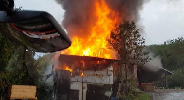 Pożar przetwórni owoców pod Limanową