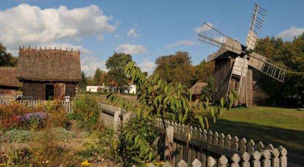 Tradycyjne jesienne prace na wsi na festynie w muzeum w Ciechanowcu