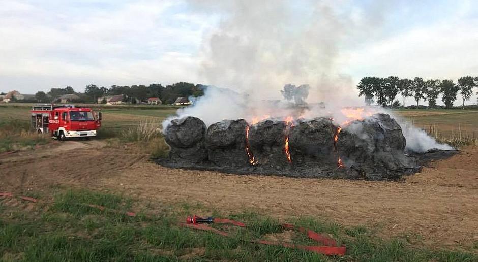 Dzieci wznieciły pożar sterty słomy
