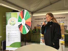 Martyna Gatkowska z IGiK opowiadała o nowej aplikacji mobilnej dla rolników AgroAssitant