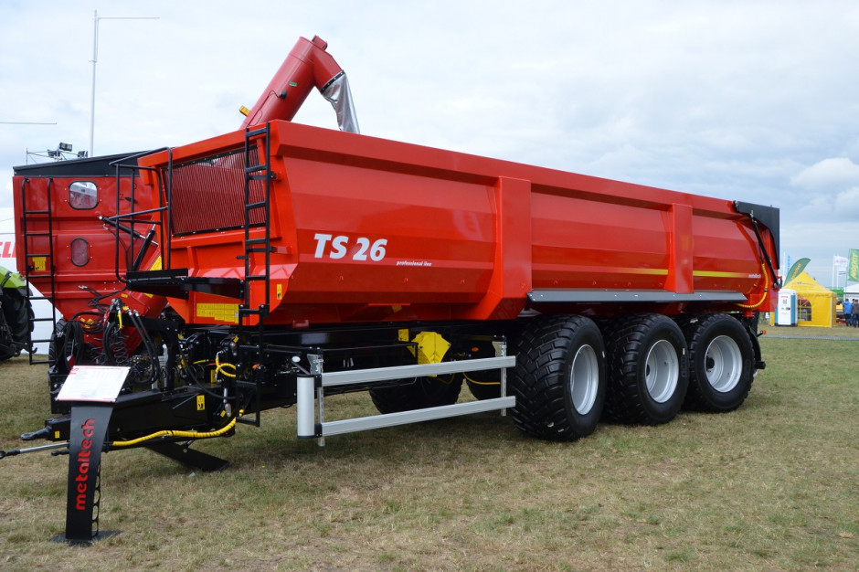 Przyczepy Metaltech TS 26 są największymi z serii; do tej pory największym modelem była przyczepa 22-tonowa, fot. mw