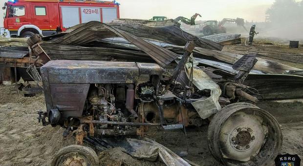 Zabudowania i maszyny spłonęły w gospodarstwie pod Kutnem