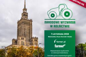 Ostatni dzień rejestracji na konferencję Narodowe Wyzwania w Rolnictwie