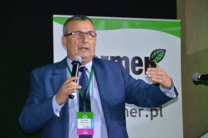 """Dr hab. Jarosław Potarzycki na Konferencji Farmera """"Narodowe wyzwania w rolnictwie"""" w Warszawie; Fot. Katarzyna Szulc"""