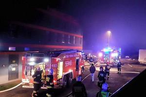 Spłonęła hala w przetwórni spożywczej w Tarczynie