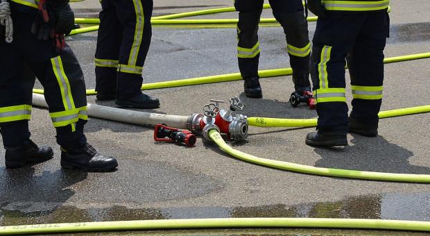Pożar w Wieltonie - spłonęła lakiernia