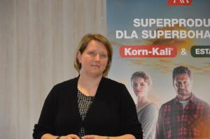 Dr Heike Thiel z K+S KALI wyjaśniała dlaczego dobre zaopatrzenie w potas i magnez jest podstawą wysokiej jakości i wydajności plonów również w warunkach stresowych; Fot. Katarzyna Szulc