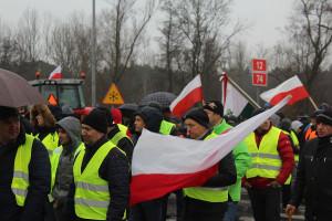Producenci trzody z województwa łódzkiego wyszli na drogi (Zdjęcia)