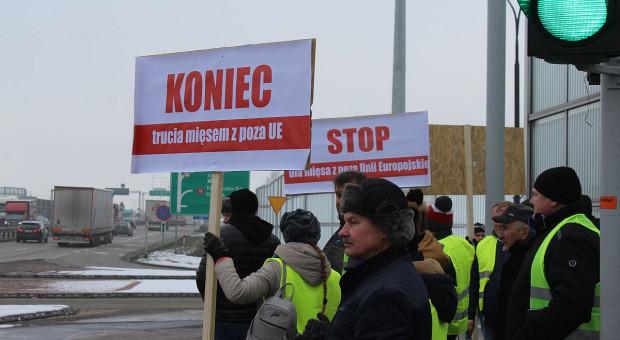 Tak protestowali w Siewierzu polscy producenci drobiu (Relacja i galeria)