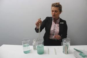Renata Olejniczak, Kierownik Produktu Dodatki Paszowe w Trouw Nutrition prezentowała mikroelementy IntelliBond