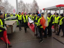 fot. protestujący rolnicy