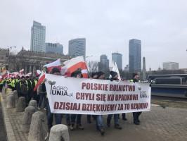 Rozpoczął się protest rolników w Warszawie, fot.  H. Jarosławska