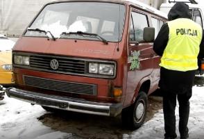 W dostawczym volswagenie również były zatarte numery fabryczne