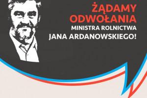 Czarzasty w Poznaniu: Minister rolnictwa powinien podać się do dymisji
