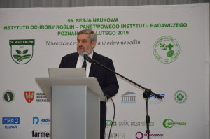 Jan Krzysztof Ardanowski, minister rolnictwa i rozwoju wsi podczas 59 Sesji Naukowej IOR w Poznaniu; Fot. Katarzyna Szulc
