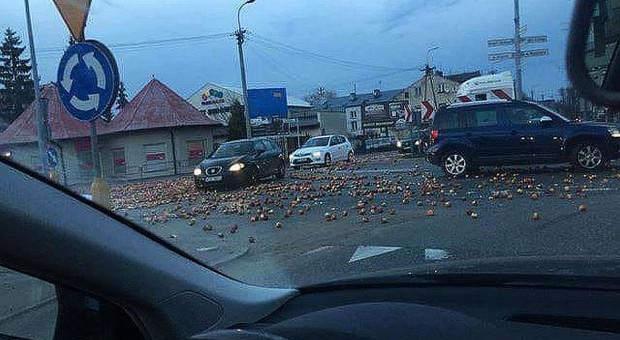 Protesty sadowników na Mazowszu – jabłka na drogach
