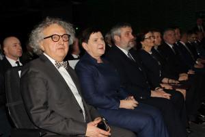 Prezes Targów Kielce Andrzej Mochoń w towarzystwie przedstawicieli rządu