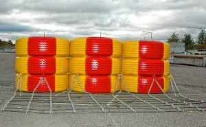 Bufory drogowe z poużytkowych opon też mogą znaleźć zastosowanie w gospodarstwie