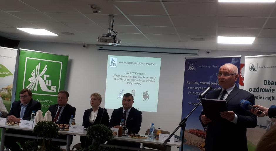 Konferencja KRUS o działaniach prewencyjnych w 2019 roku