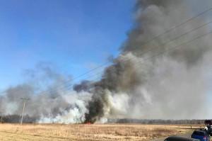 Pożar widac było z odlegości kilku kileometrów