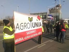 Rolnicy z AGROunii znów protestują w Warszawie, fot. I. Dyba