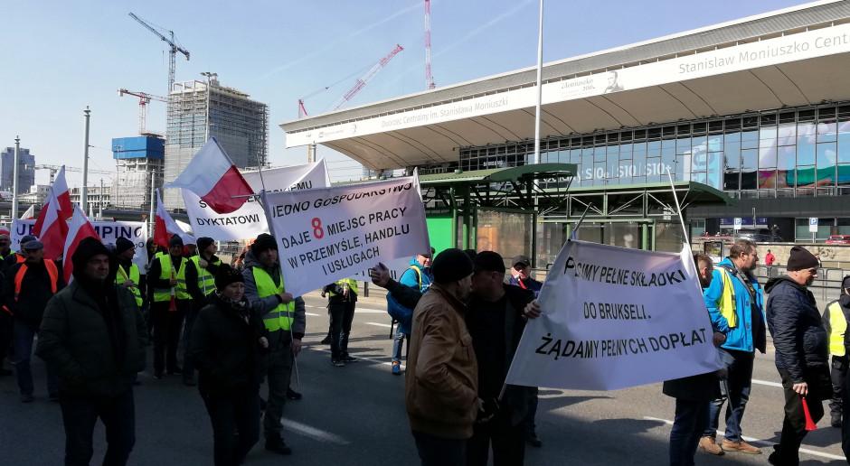 Brudziński o proteście AGROunii: był legalny; zadaniem policji zapewnienie bezpieczeństwa