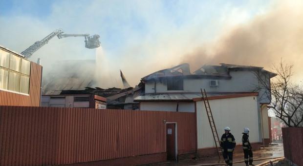 Wielki pożar ubojni we Włodawie