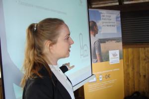 Monika Cieniawska z 365FarmNet prezentuje możliwości oprogramowania, fot. ArT