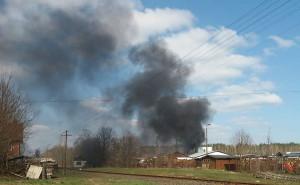 Dym z pożogi widać było z odległości wielu kilometrów