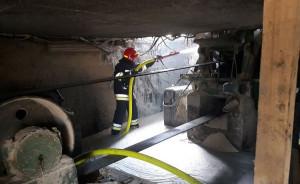 Pożar wybuchł w wyniku zapłonu oleju do napędzania traka, fot. OSP Trzebunia