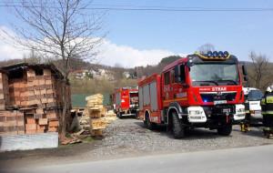 Strażakom udało sie opanować pożar, nim żywioł dokonał zniszczenia