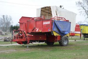 Do gospodarstwa zakupiony został używany kombajn do zbioru ziemniaków, fot. mw