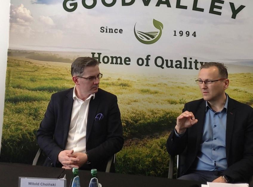 (od lewej) Witold Choiński, prezes Związku Polskie Mięso oraz Grzegorz Brodziak, dyrektor zarządzający Goodvalley
