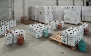Zabezpieczono czynniki chłodnicze o wartości rynkowej ok. 2,5 mln zł