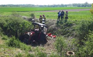 Do wypadku doszło na niestrzeżonym przejeździe, na drodze dojazdowej do pól