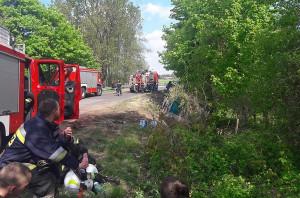 W działaniach ratowniczych wzięło udział 10 strażackich zastępów Foto: OSP Lipicz