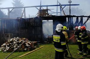 Na miejscu pracowało 6 zastępów strażackich