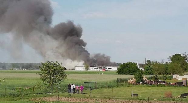 Wielki pożar tartaku pod Turkiem