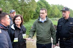 Podtopione rejony wizytował premier Mateusz Morawiecki, fot. KW PSP Rzeszów