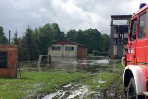 Woda nie oszczędziła nawet strażackich siedzib, fot. KW PSP Rzeszów