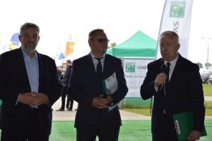Od lewej: Jan Krzysztof Ardanowski, szef resortu rolnictwa;  Juliusz Młodecki, prezes KZPRiB; Ryszard Kamiński, dyrektor K-P ODR; Fot. Katarzyna Szulc