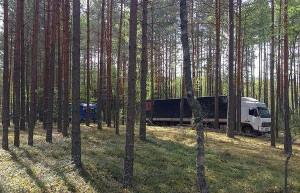 Ciężarówki z polskimi jabłkami jechały z Białorusi do Rosji leśnymi duktami  Foto: Federalna Służba Celna Rosji