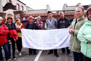 Protestowali pracownicy zakładów mięsnych w Pszczynie i Goczałkowicach-Zdroju