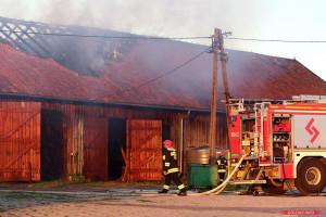 Budynek we wsi Mażucie spłonął częściowo, lecz nie wiadomo, czy będzie go można nadal użytkować